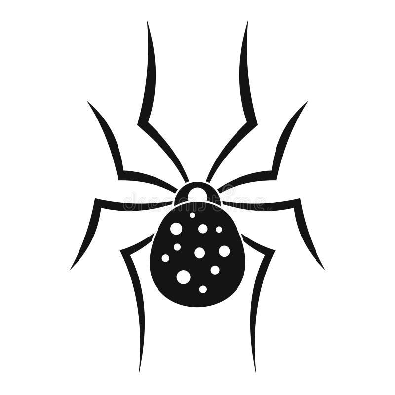 Значок паука, простой стиль иллюстрация вектора