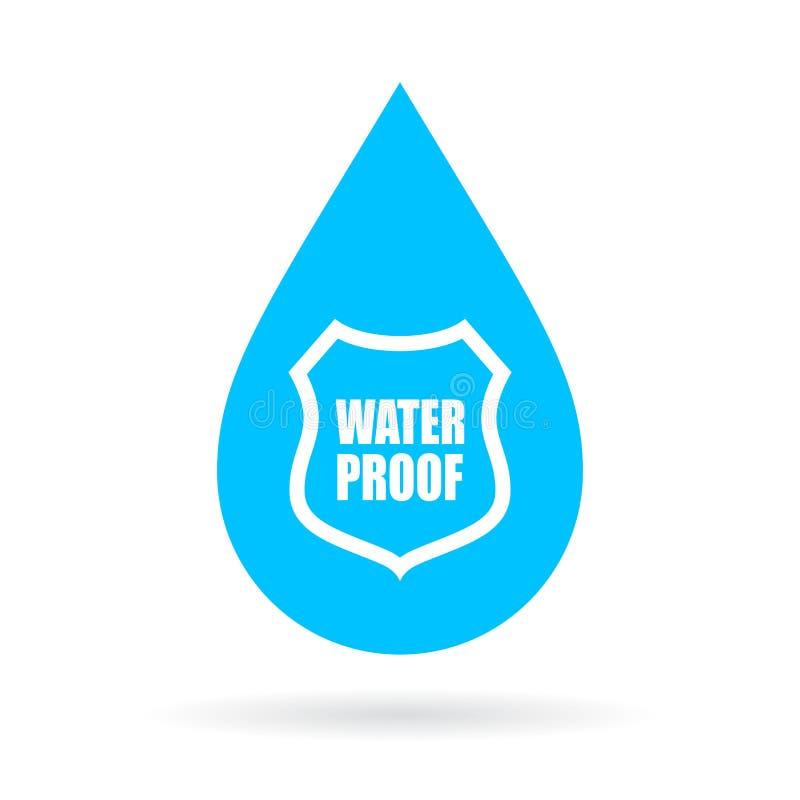 Значок падения доказательства воды бесплатная иллюстрация