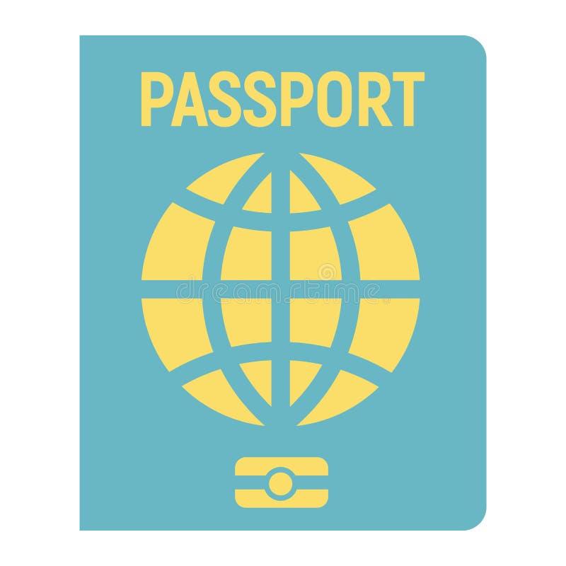 Значок, перемещение и подданство пасспорта плоские бесплатная иллюстрация