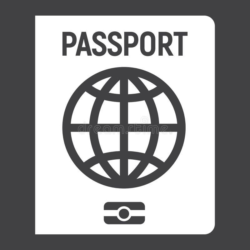 Значок, перемещение и подданство пасспорта твердые бесплатная иллюстрация