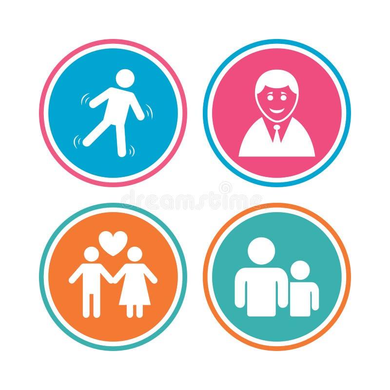 Download Значок персоны бизнесмена Символ группы людей Иллюстрация вектора - иллюстрации насчитывающей пинк, мужчина: 81804754