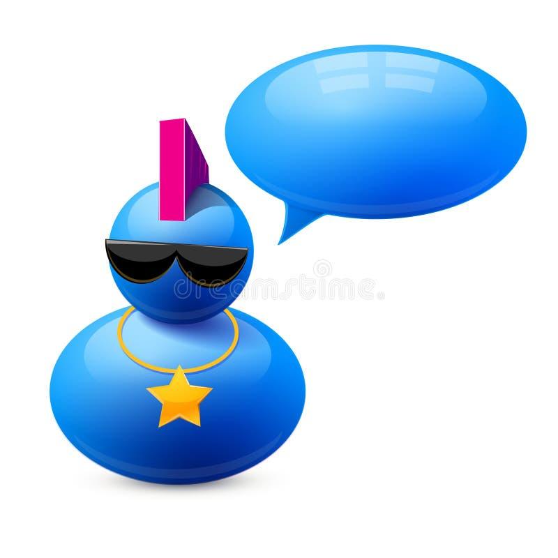 Download Значок персоны с пузырем речи Иллюстрация вектора - иллюстрации насчитывающей директор, икона: 40584041