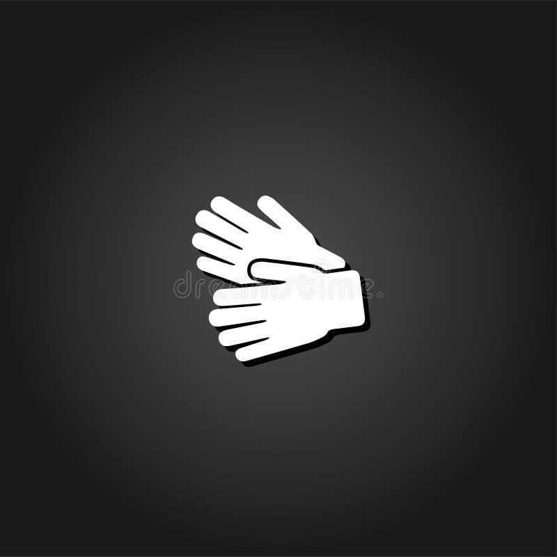 Значок перчаток сада плоско иллюстрация вектора