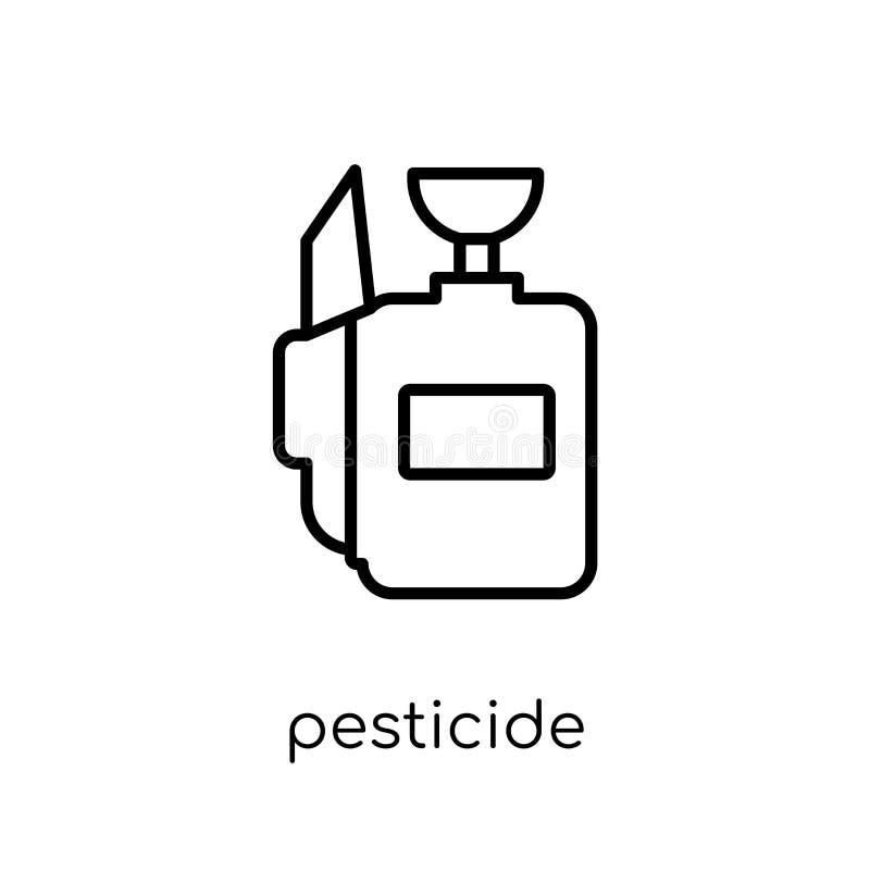 Значок пестицида от collectio земледелия, обрабатывать землю и садовничать иллюстрация вектора