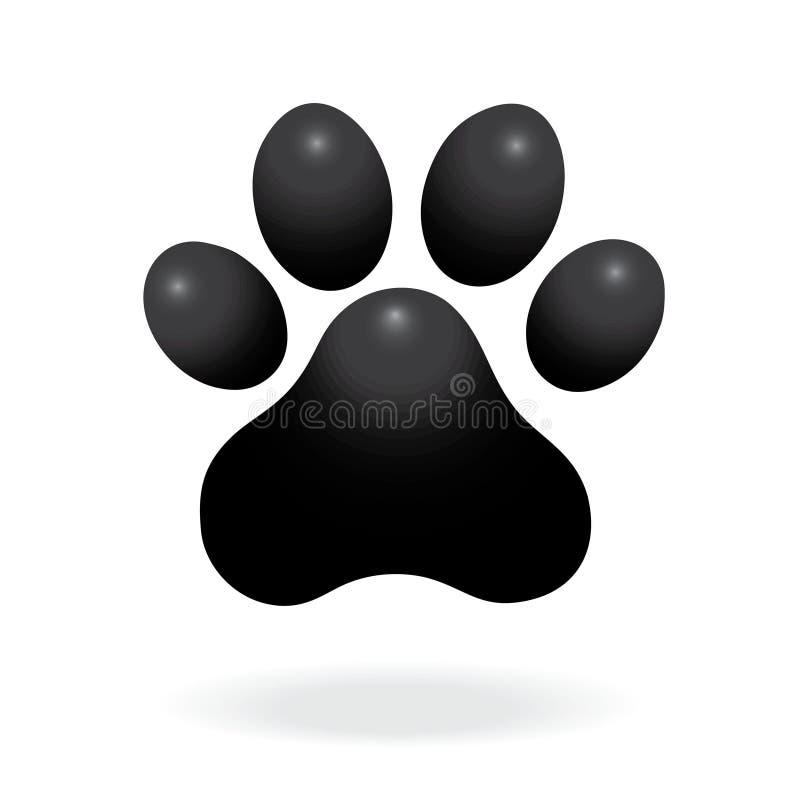 Значок печати лапки собаки или кота плоский для животных apps и вебсайтов Печать лапки вектор иллюстрация вектора