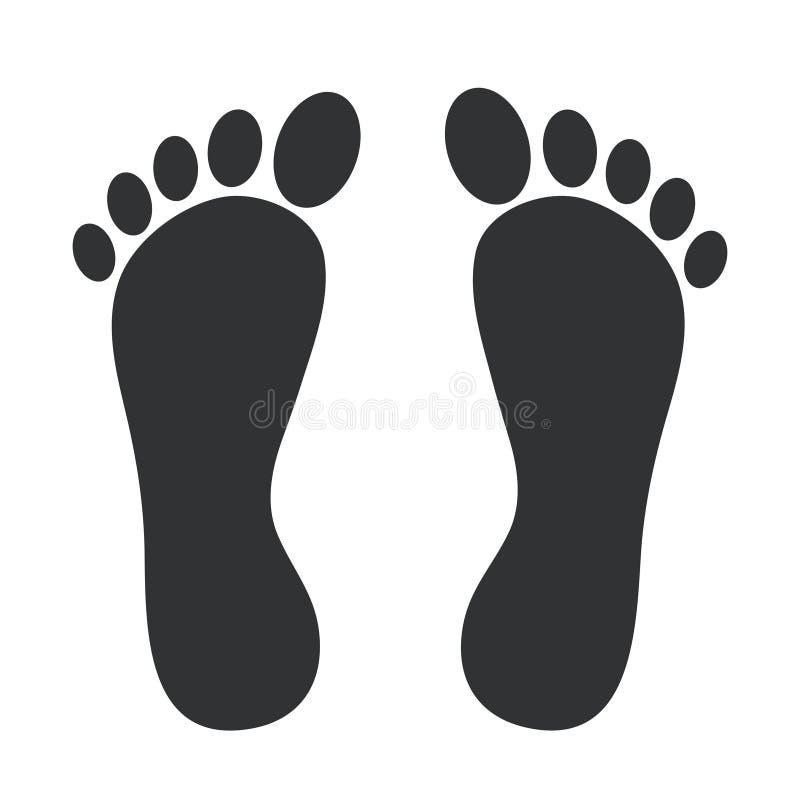 Значок печати ноги Ноги тэксов на белизне вектор пользы штока иллюстрации конструкции ваш иллюстрация штока