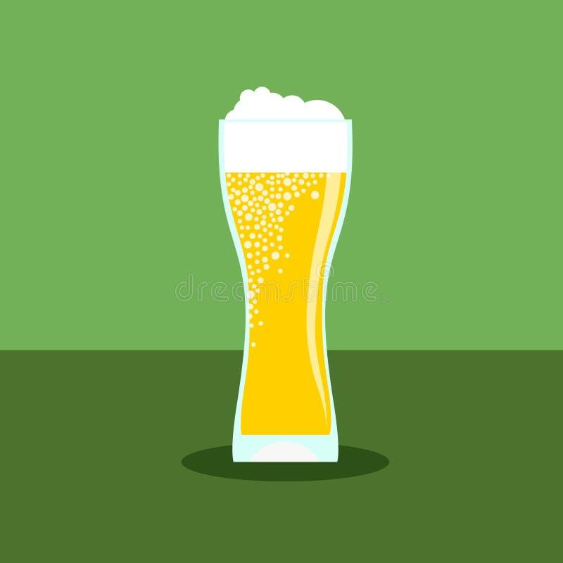 Значок пива в современном плоском дизайне с длинной тенью стоковые изображения rf