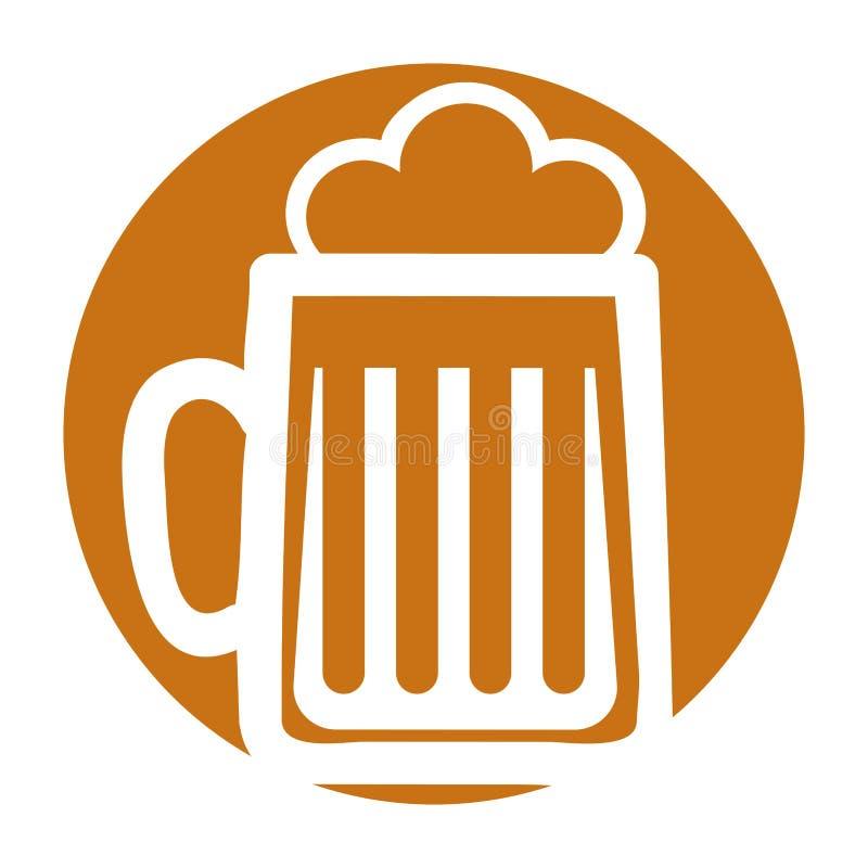 Значок пива изолированный опарником иллюстрация вектора