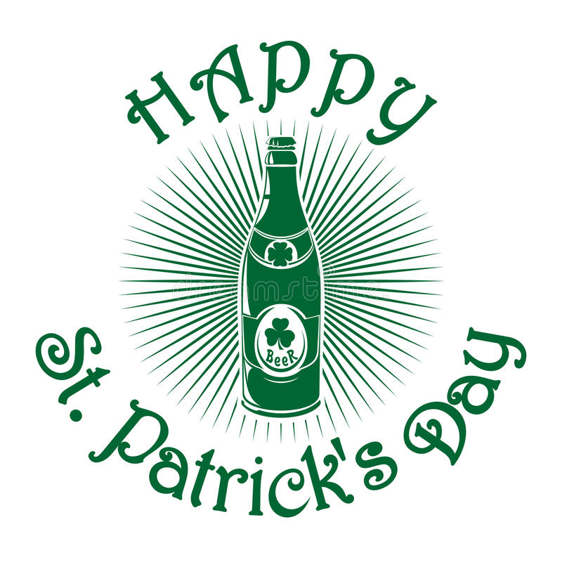 Значок пива ретро Символ торжества дня St Patricks иллюстрация вектора