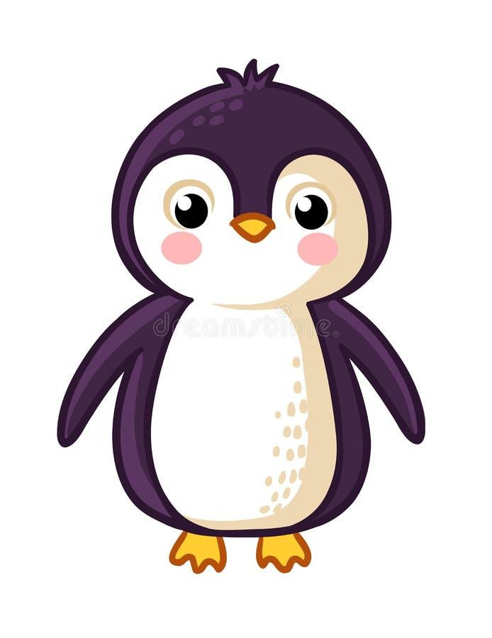 Значок пингвина шаржа иллюстрация вектора