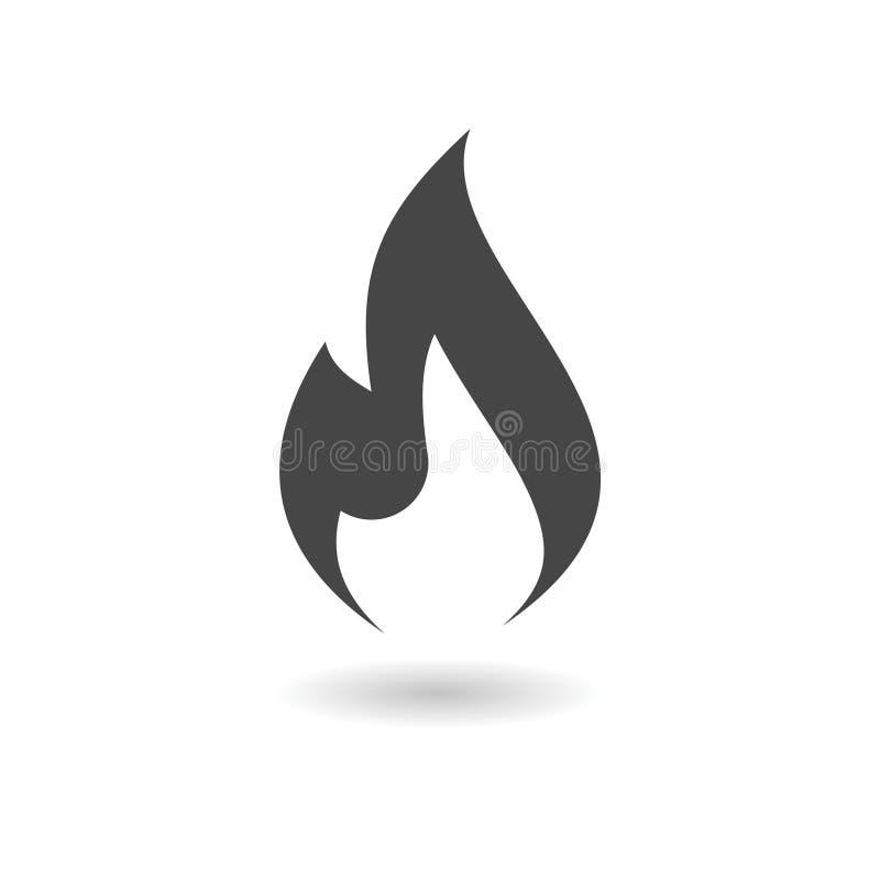Значок пламени газа иллюстрация вектора