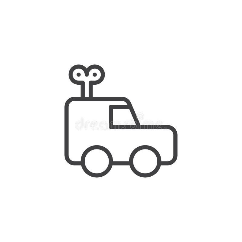 Значок плана автомобиля Clockwork иллюстрация штока