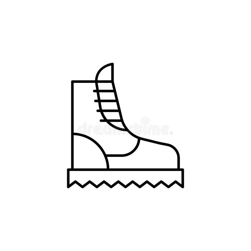 Значок плана ботинка перемещения Элементы значка иллюстрации перемещения r иллюстрация штока