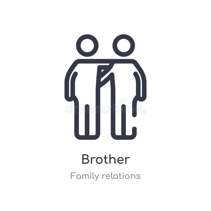 значок плана брата изолированная линия иллюстрация вектора от собрания отношений семьи editable тонкий значок брата хода дальше иллюстрация вектора