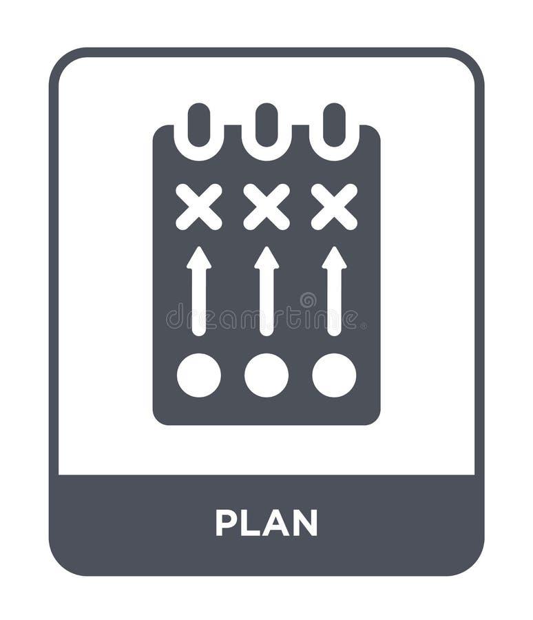 значок плана в ультрамодном стиле дизайна Значок плана изолированный на белой предпосылке символ значка вектора плана простой и с бесплатная иллюстрация