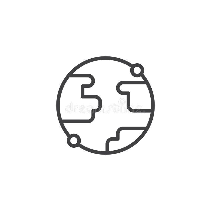 Значок плана глобуса земли бесплатная иллюстрация