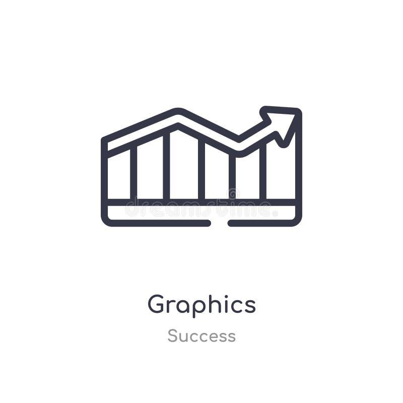 значок плана графиков изолированная линия иллюстрация вектора от собрания успеха editable тонкий значок графиков хода на белизне иллюстрация штока