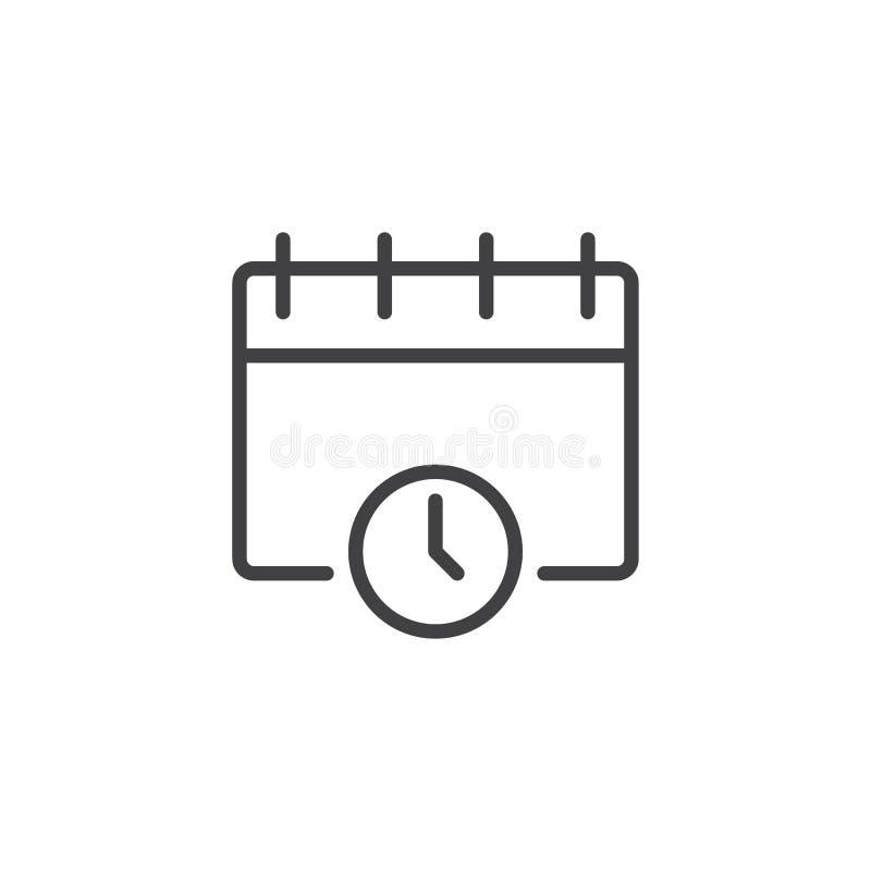 Значок плана даты и времени иллюстрация штока