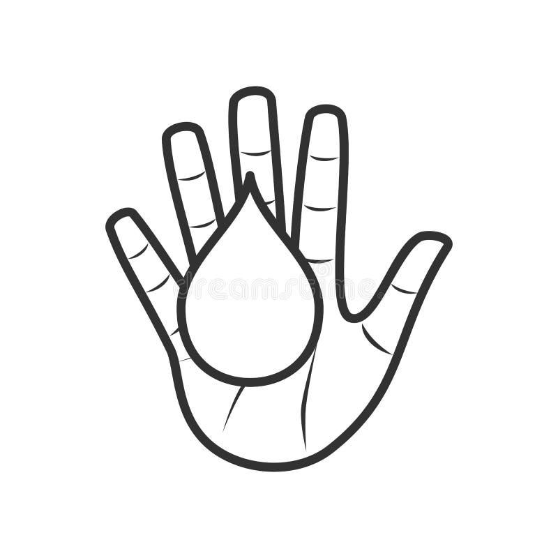 Значок плана донорства крови плоский на белизне иллюстрация вектора