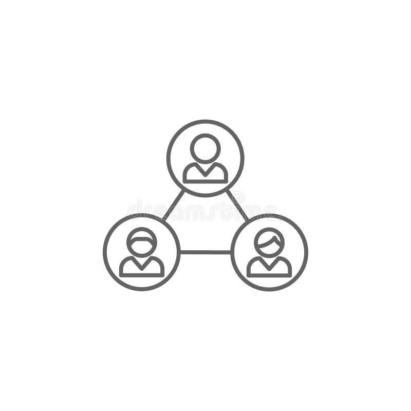 значок плана друзей братства Элементы линии значка приятельства Знаки, символы и векторы можно использовать для сети, логотипа, ч бесплатная иллюстрация