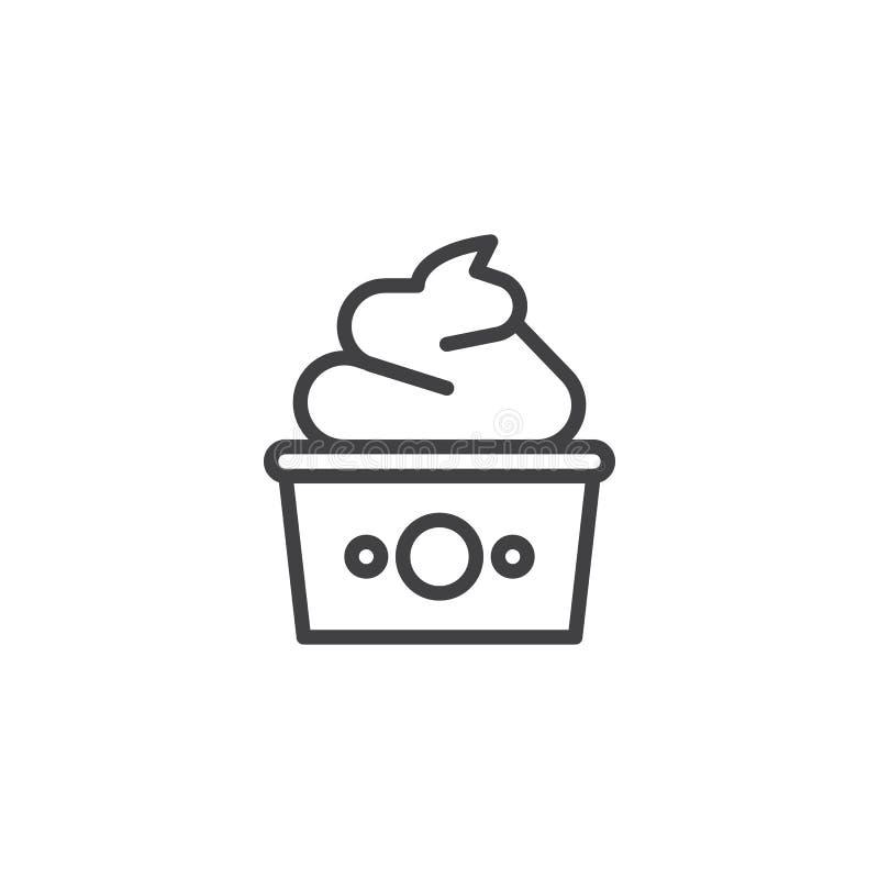 Значок плана замороженного йогурта бесплатная иллюстрация