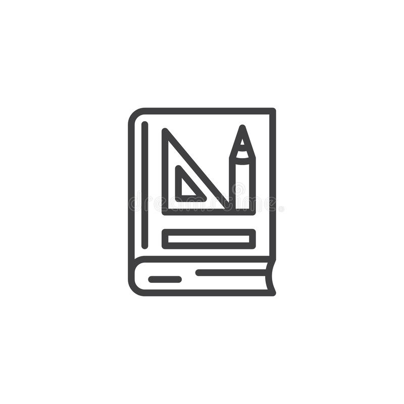 Значок плана книги геометрии иллюстрация штока