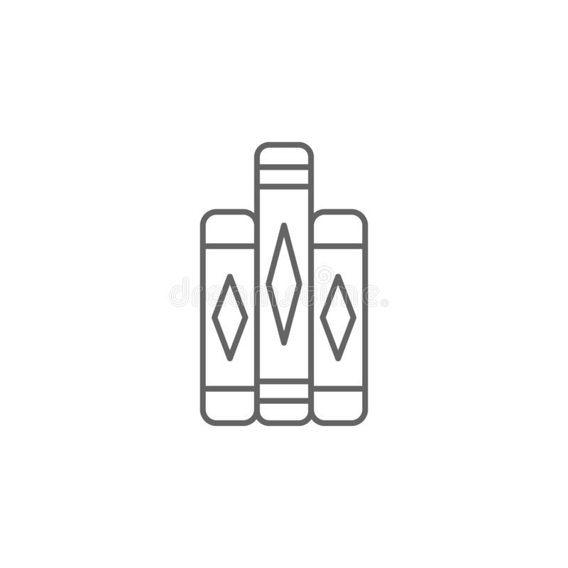 Значок плана книг правосудия Элементы линии значка иллюстрации закона Знаки, символы и векторы можно использовать для сети, логот бесплатная иллюстрация