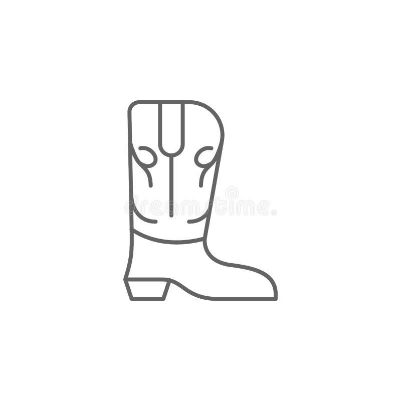 значок плана ковбоя ботинка Элементы значка иллюстрации Дня независимости E бесплатная иллюстрация