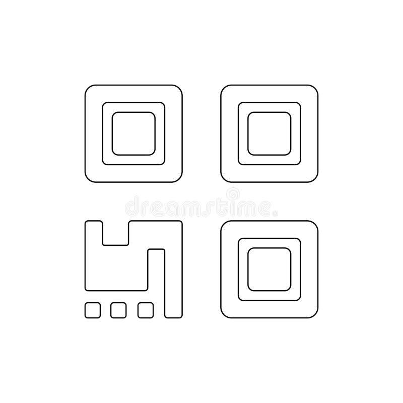 Значок плана кода Qr r иллюстрация штока