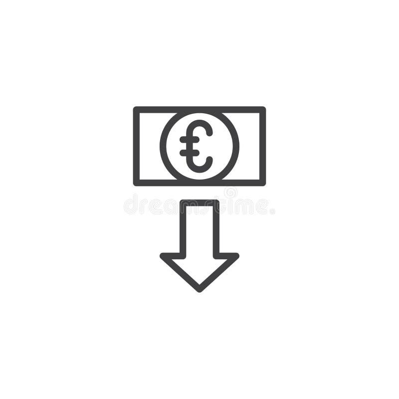 Значок плана курса евро бесплатная иллюстрация