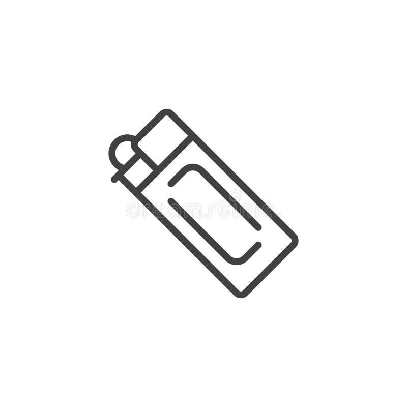 Значок плана лихтера газа иллюстрация вектора
