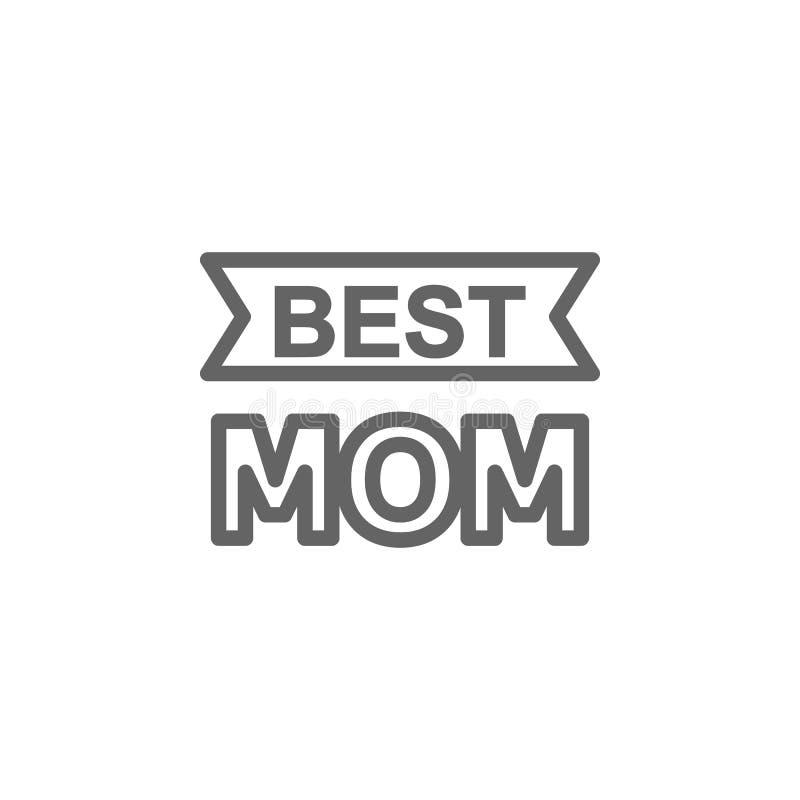 Значок плана мамы дня матерей самый лучший Элемент значка иллюстрации дня матерей E иллюстрация штока