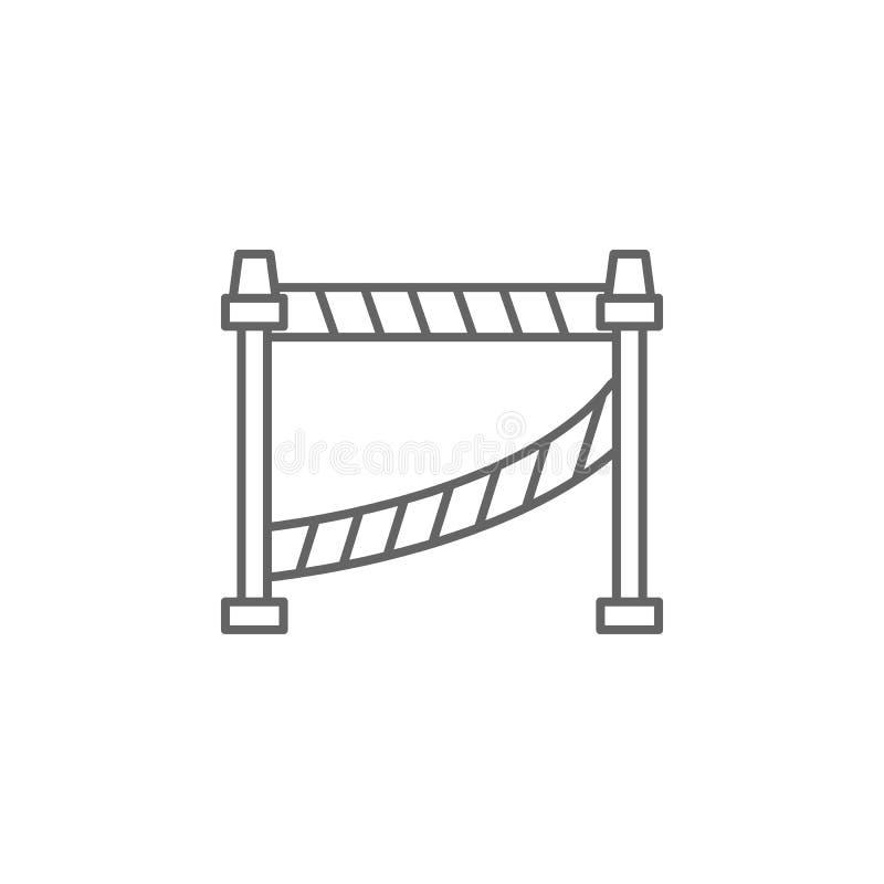 Значок плана места преступления правосудия Элементы линии значка иллюстрации закона Знаки, символы и s можно использовать для сет бесплатная иллюстрация