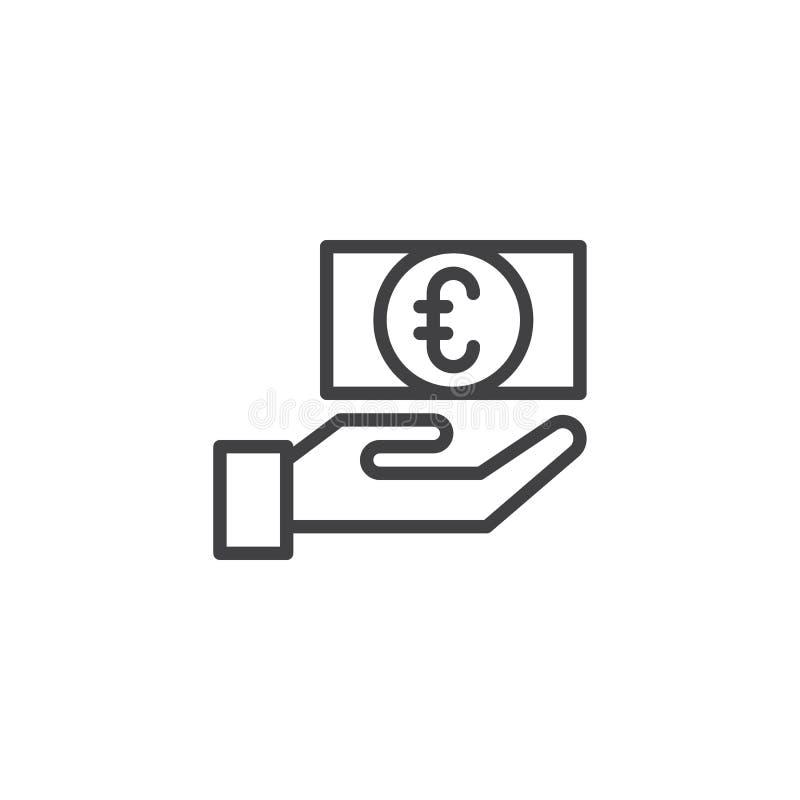 Значок плана обмена валюты евро иллюстрация штока