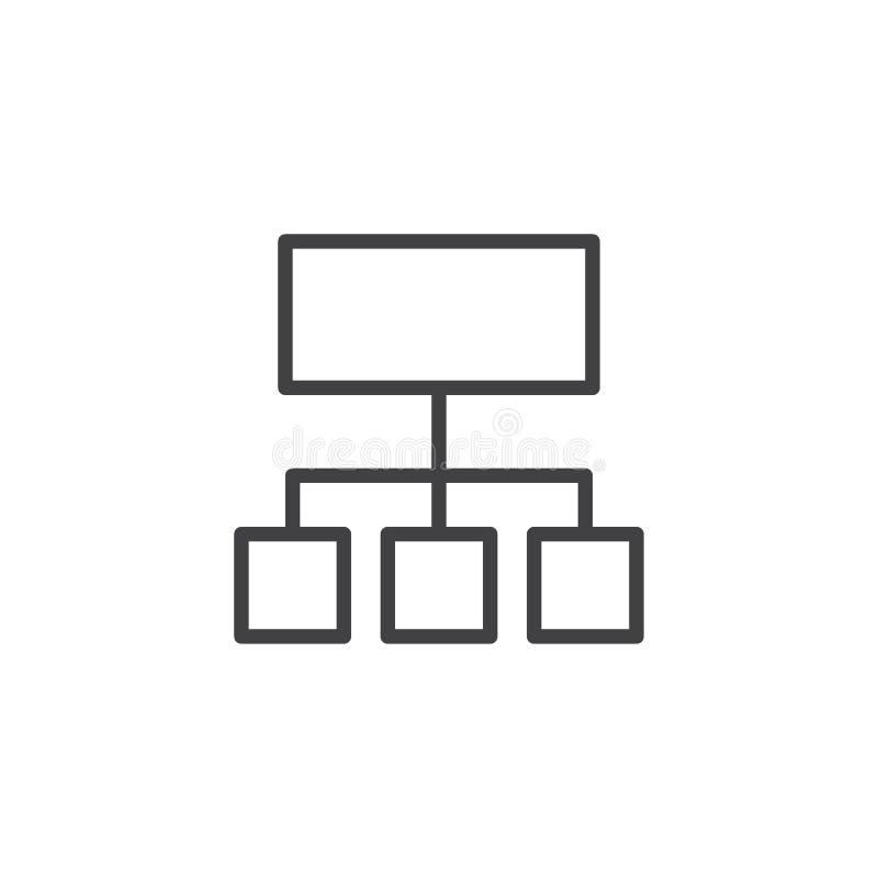 Значок плана организационной схемы бесплатная иллюстрация