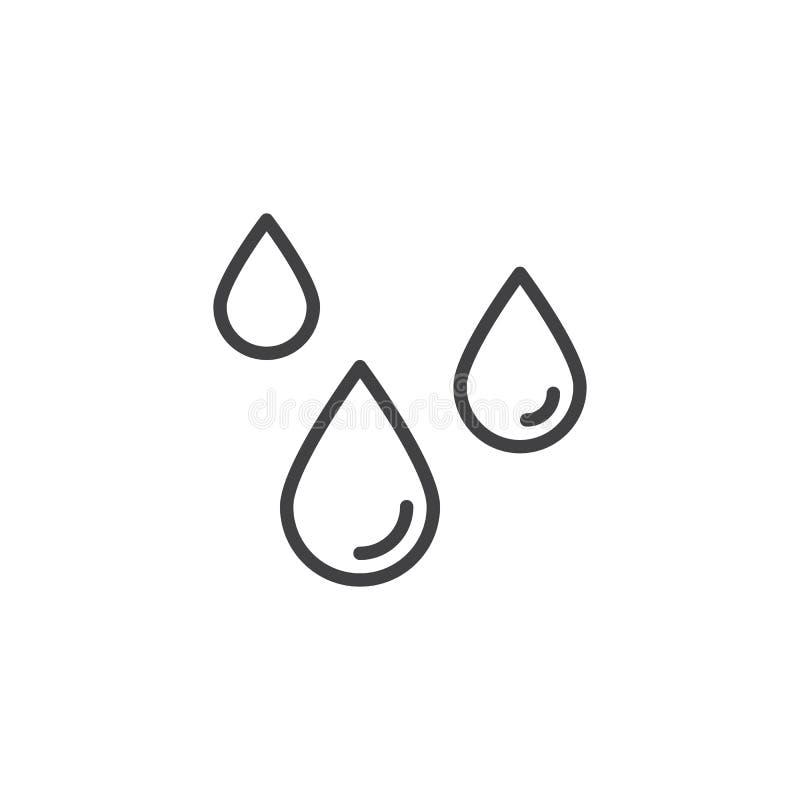 Значок плана падения воды бесплатная иллюстрация