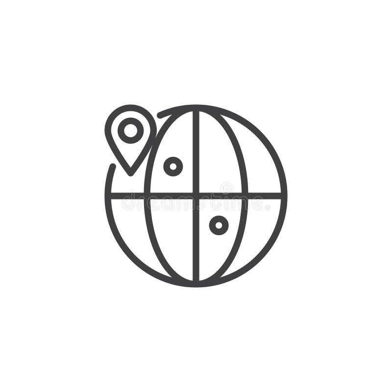 Значок плана положения глобуса бесплатная иллюстрация