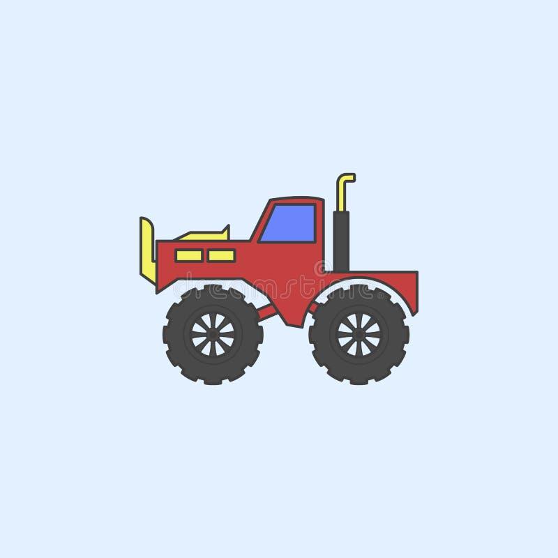 значок плана поля автомобиля снежного человека тележки Элемент тележек изверга показывает значок для передвижных apps концепции и бесплатная иллюстрация