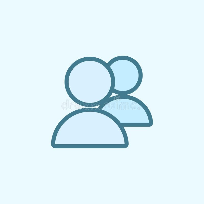 значок плана поля людей Элемент значка 2 цветов простого Тонкая линия значок для дизайна вебсайта и развития, развития app бесплатная иллюстрация