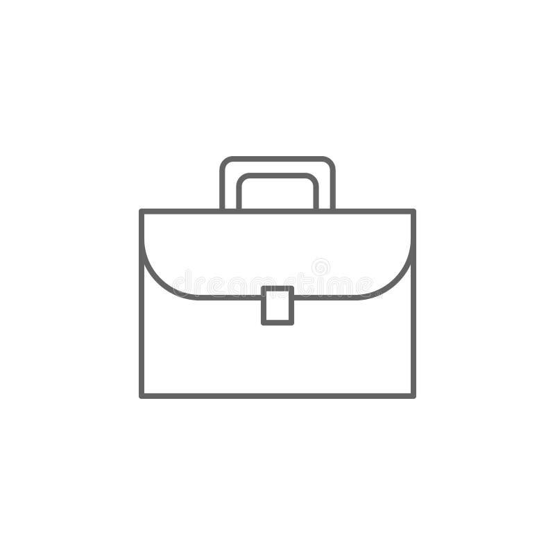 Значок плана портфолио правосудия Элементы линии значка иллюстрации закона Знаки, символы и векторы можно использовать для сети,  иллюстрация штока