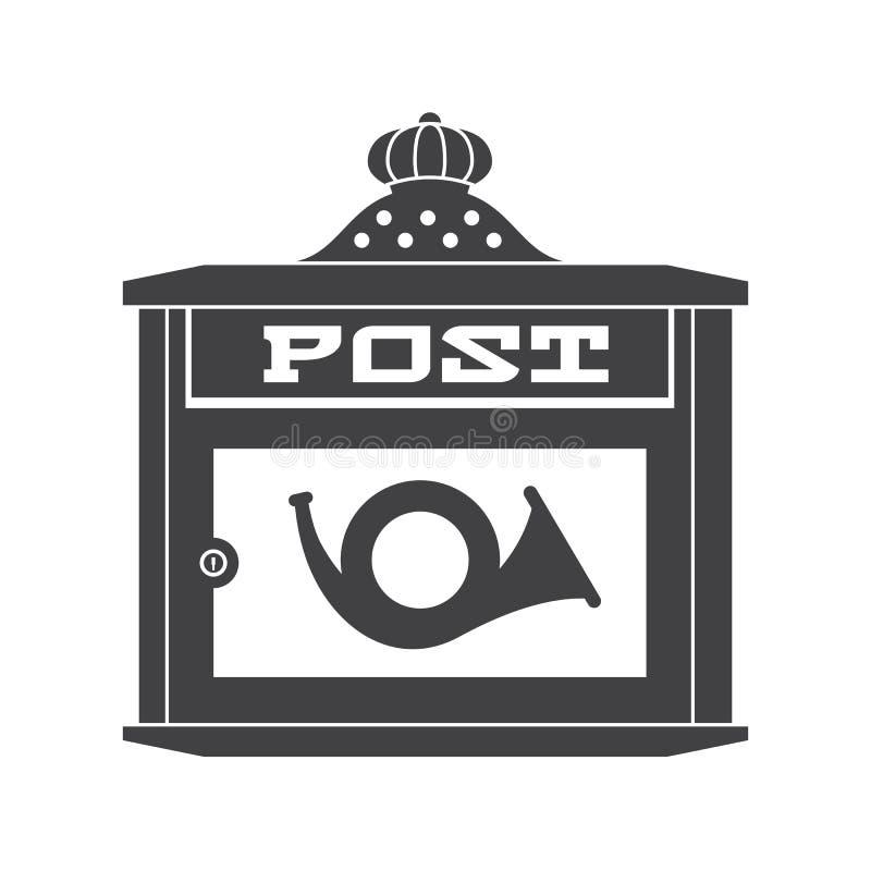 Значок плана почтового ящика почты иллюстрация штока