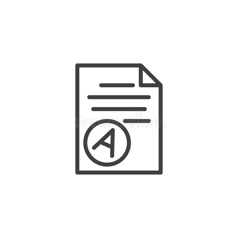 Значок плана результата теста бумажный иллюстрация штока