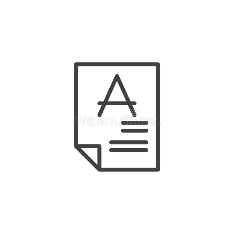 Значок плана результатов теста бесплатная иллюстрация
