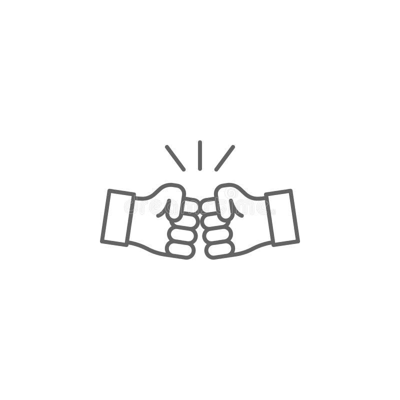 значок плана рук братства Элементы линии значка приятельства Знаки, символы и векторы можно использовать для сети, логотипа, моби иллюстрация вектора