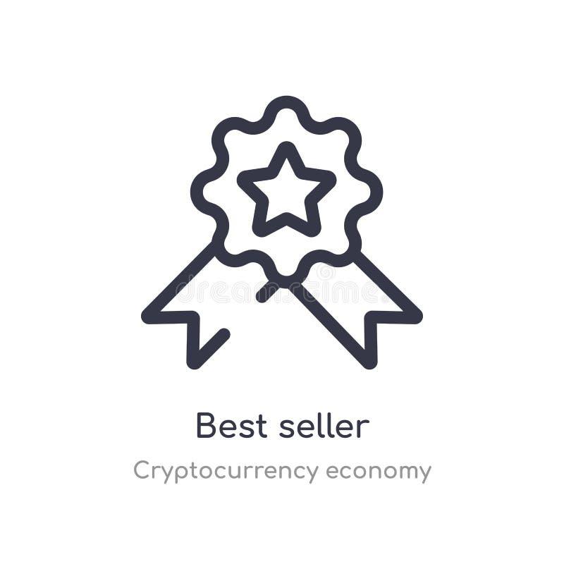 значок плана самого лучшего продавца изолированная линия иллюстрация вектора от собрания экономики cryptocurrency editable тонкое иллюстрация штока