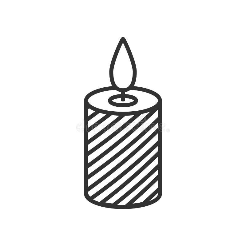 Значок плана свечи рождества плоский на белизне иллюстрация штока