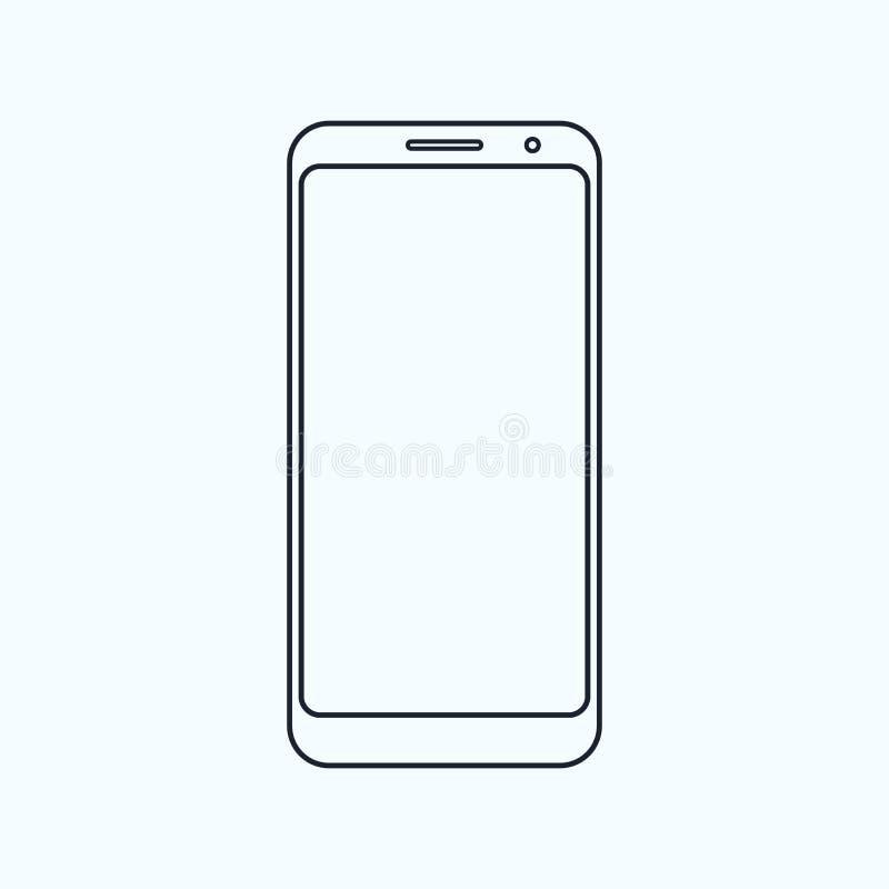 Значок плана современного мобильного телефона бесплатная иллюстрация
