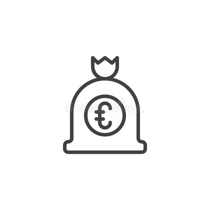Значок плана сумки денег евро бесплатная иллюстрация