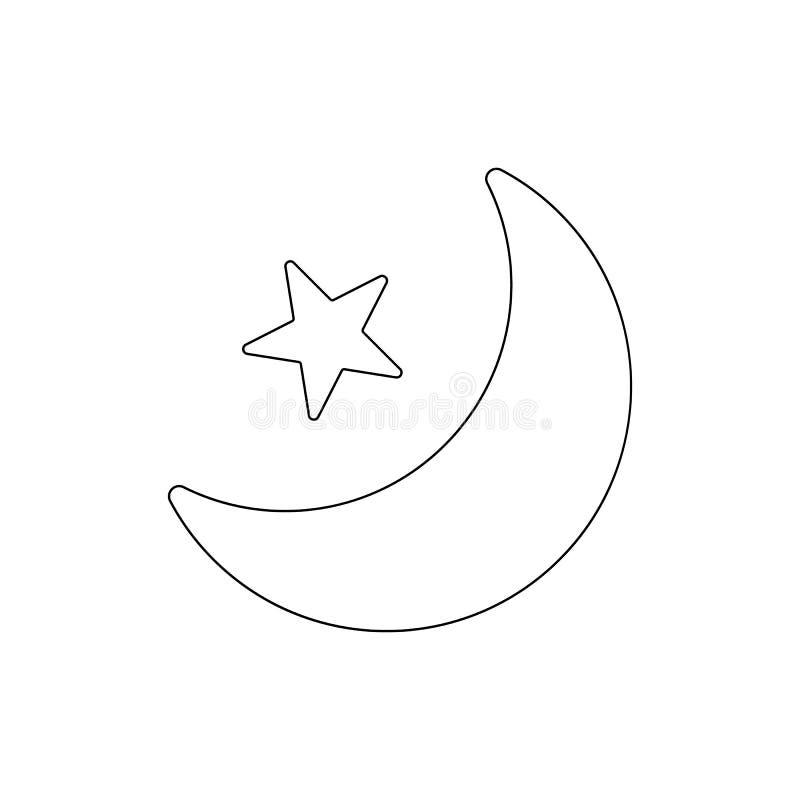 Значок плана участка звезды луны r иллюстрация штока