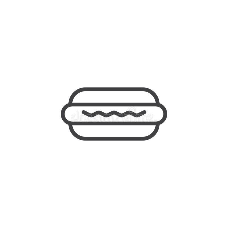 Значок плана хот-дога иллюстрация вектора